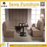 Cabine de sofa de restaurant, sofa en cuir de cabine de restaurant