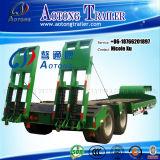 Prijs 2/3/4/5 van de fabriek Assen 50/80/100/120 van de Lage Vlakke van het Bed Semi Ton Vrachtwagen van de Aanhangwagen voor Verkoop met Hoge Sterke Helling