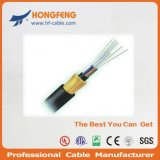 GYTC8S Figura 8 Auto Apoyo cable de fibra óptica aérea