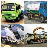 Rociadores y grúa y camión de la basura vehículo especializado