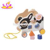 Новые Самые смешные деревянные слон потяните игрушка для детей W05b169