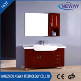 Vanidad de madera al por mayor del cuarto de baño moderna con la cabina lateral