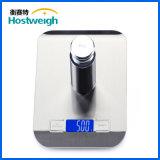 escala de peso exata da cozinha de Digitas da plataforma do aço 5kg/1g inoxidável