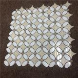 Mattonelle di mosaico Waterjet di disegno elegante, mosaico per la decorazione della Camera