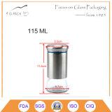 Glasglas des gewürz-115ml und des Salzes mit Kippen herauf Schutzkappe