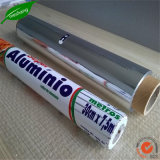 Folha de alumínio e recipiente de alumínio de alimentar folhas de alumínio para uso doméstico