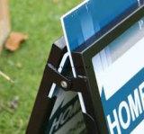 """Les signes de yard d'affaires pour les immeubles et les campagnes d'élection sautent vers le haut annonçant le stand extérieur de matériel de Portablea d'étalage promotionnel de la vue Sidewalk24 """" X36 """""""