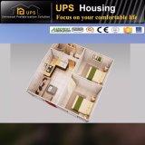 2寝室の単一の床のプレハブの家の別荘デザイン映像