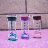 Acrylique Colorful Liquid Motion Hourglass (MQ-ACH01)