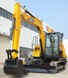 Sany Sy75, das hydraulischen Gleisketten-Aufbau-Maschinerie-kleinen Exkavator gräbt