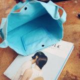 Bolsa femenina reutilizable Bolsa Feminina Bolso Mujer del libro de las señoras del bolso del totalizador del bolso de compras de las mujeres de la carta de la tela de algodón para las muchachas