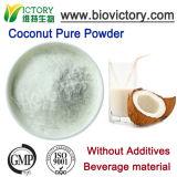 El polvo de coco puro 100% natural sin aditivos