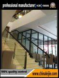 둥근 포스트를 가진 휴대용 층계 유리제 손잡이지주 또는 강화 유리 방책 또는 발코니 유리제 난간