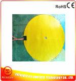 calefator de faixa elétrico flexível redondo do diâmetro 50mm Polyimide de 10W 24V