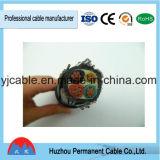 PVC de faisceau de la basse tension 4 isolé et jupe avec le câble d'alimentation de cuivre de conducteur