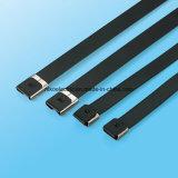 Serre-câble enduit d'acier inoxydable de PVC d'O-Blocage pour les fils protecteurs