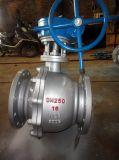 CF8 Stainless Steel Handwheel flange de válvula de esfera pneumática