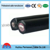 UL-TUV approuvé 2*6mm2 double coeur câble PV solaire