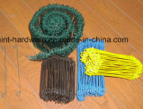 PVC Coated Double Loop Bar Tie Wire 또는 Silver, Green, Yellow, Black, Choosing를 위한 White