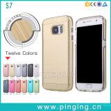 Pulido de lujo Teléfono híbrido de los casos para el Samsung Galaxy S7/S6/S5
