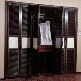 Коричневый Oppein шкаф старинной деревянной встроенная мебель с одной спальней (YG11329)