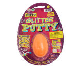 Putty do Glitter no ovo plástico