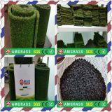 Verde natural superior S & grama do Synthetic da paisagem da forma de W