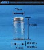Rundes Shape Glass Bottle für Jam mit Screw Cap