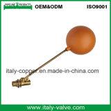 صنع وفقا لطلب الزّبون نوعية نحاس أصفر [فلوأت فلف] مع كرة بلاستيكيّة ([أف5026])