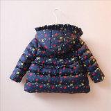 De kleding Afgedrukte Laag van het Meisje van de Bloem voor de Kleren van de Winter van Kinderen