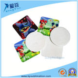Regalos de promoción de la tinta de impresión por sublimación taza de la foto Coaster