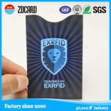 Papel de protección RFID de la información que bloquea el sostenedor de la tarjeta de crédito