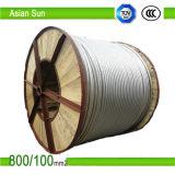 Les lignes de transmission de puissance haute tension du câble ACSR