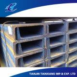 Forma em U GB JIS Canal de aço laminado a quente