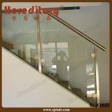 스테인리스 계단 실내를 위한 유리제 방책 난간 (SJ-H975)