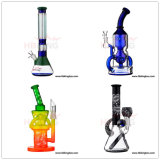Fabricante de vidro China Hbking New Arrival Art Glass Tubo de água, óleo DAB Rig Recycler Percolator Beaker Glass Smoking Pipe