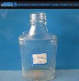 Bottiglia di vetro della cristalleria su ordine per memoria del vino