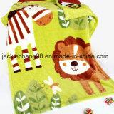 Coperta di lusso della peluche dei compagni infantili della giungla di estate, verde