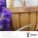Hongdao Hecho a mano de aduana de Navidad Wall colgando decoraciones de madera de la cesta _L