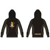 Hoody сублимированное чернотой с изготовленный на заказ пуловером логоса для Cavalipers
