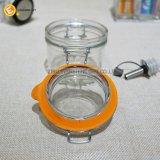 気密のふたのガラススパイスの瓶の食糧容器