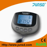 podómetro multi desprendible del bolsillo del clip de la función del sensor 3D (JS-400)