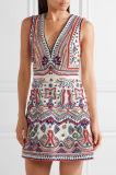 Nuovo vestito da sera sexy abbellito della Cotone-Tela di canapa di arrivo 2017 tortino