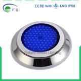 고품질 316 Ss 빨간 녹색 파란 2year 보장을%s 가진 수지에 의하여 채워지는 LED 수영장 빛
