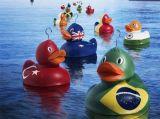 Nicht-Phthalat Belüftung-Vinylspielzeug /Rubber, das Bad-Spielzeug/Haustier-gelbes Spielzeug schwimmt