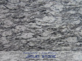 Tegel van /Wall van de Vloer van de Overzeese de Golf Gevlamde van het Graniet Keuken van het Wit van de nevel/