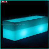 플라스틱 LED에 의하여 조명되는 나이트 클럽 가구 빛을내는 긴 입방체 재배자 얼음 양동이