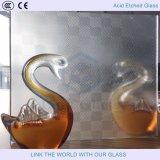 Frans het in reliëf maken Aangemaakt Glas/het Glas van de Steen met Zuur Geëtsth Glas 2mm19mm