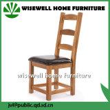 Comércio por grosso de madeira de carvalho Cadeira de jantar curvo de couro