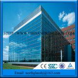 Baixo preço de vidro reflexivo de venda quente para a fachada do edifício